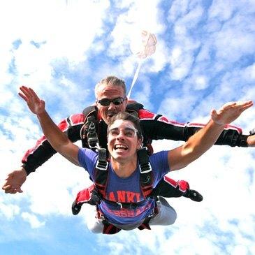 Saut en parachute, département Drôme