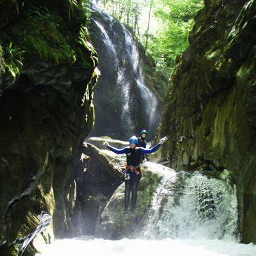 Descente du Canyon de Canceigt près de Pau