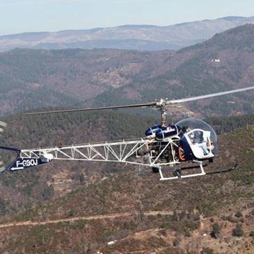 Pilotage d'Hélicoptère dans les Cévennes