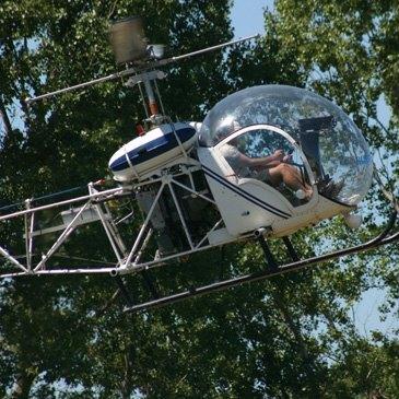 Baptême de l'air hélicoptère, département Gard