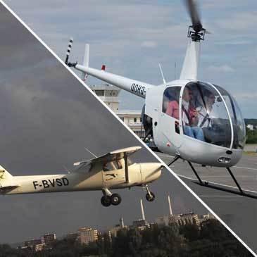 Vol d'initiation pilotage avion et hélicoptère Le Havre