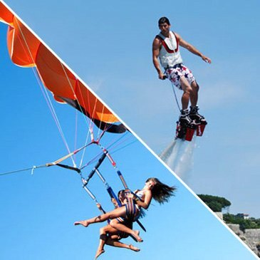 Flyboard et Parachute ascensionnel à Nice
