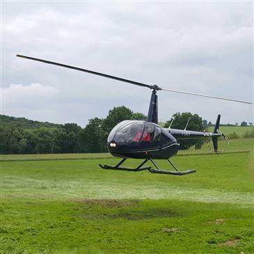 Baptême de l'air hélicoptère, département Tarn