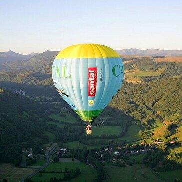 Vol en montgolfière survol Auvergne St Flour