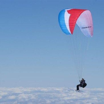 Parapente à Ski, département Hautes pyrénées
