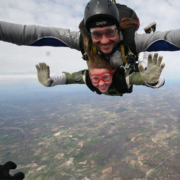 Saut en parachute, département Lot