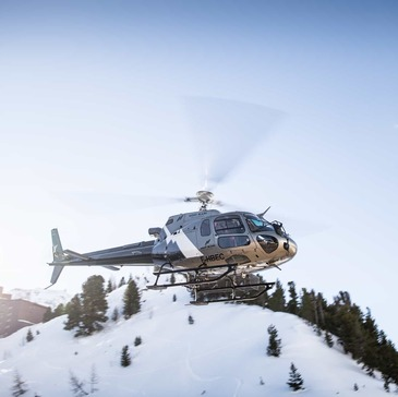 Baptême en Hélicoptère aux Arcs - Survol du Mont blanc