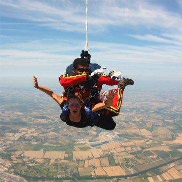 Saut en parachute, département Jura