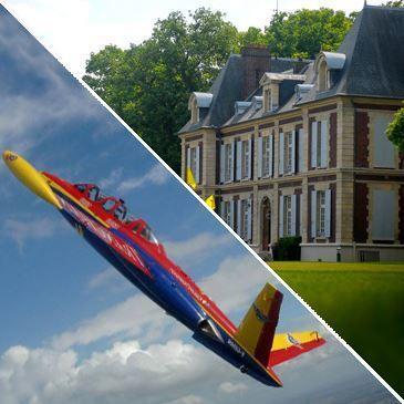Week end Vol en avion de chasse et nuit au Château de l'Hermitage