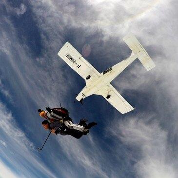 Saut en parachute, département Côte d'or