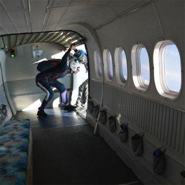 Saut en parachute, département Landes