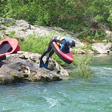 Nage en eaux vives, département Hérault