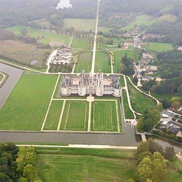 Baptême en Hélicoptère à Blois - Château de Chambord