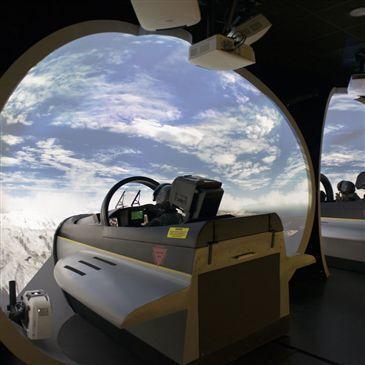 Simulateur de Combat en Avion de Chasse F18 à Lyon en région Rhône-Alpes