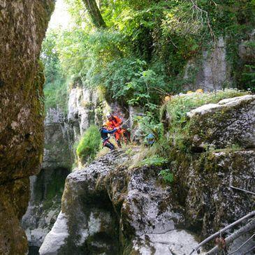 Canyoning, département Jura