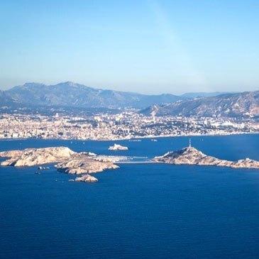 Pilotage d'un Avion de Aix à Marseille aux Calanques de Cassis