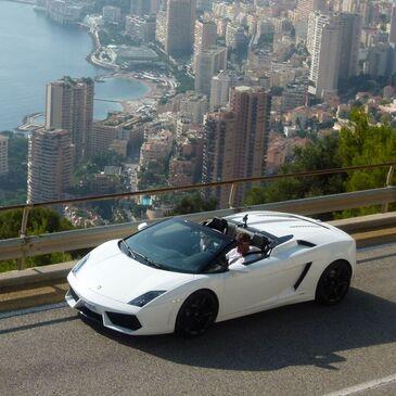 Stage sur Route en Lamborghini Gallardo Spyder près de Nice