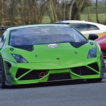 Baptême Lamborghini Supertrofeo Circuit Pont l'Évêque