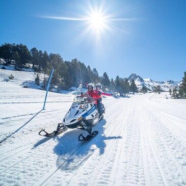 Randonnée scooter des neiges près d'Ax-les-Thermes