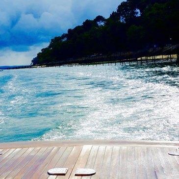 Balade en bateau, département Gironde