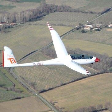 Aérodrome de Nogaro, Gers (32) - Baptême de l'air en Planeur