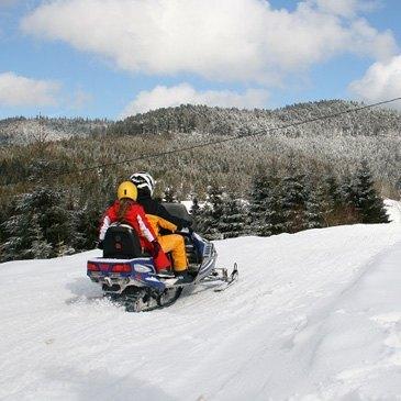 Scooter des neiges, département Vosges