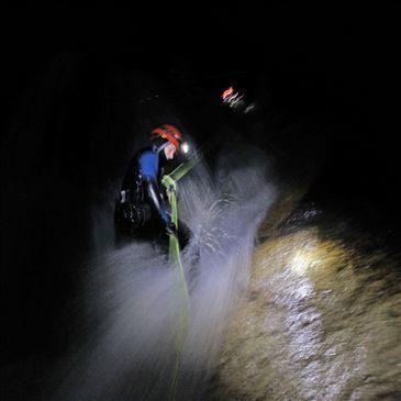 Descente de Nuit du Canyon du Brousset