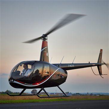 Baptême de l'air hélicoptère, département Maine et loire