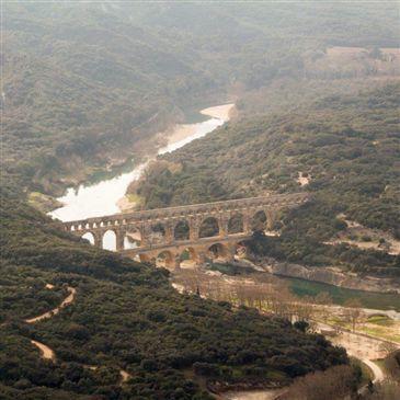 Baptême en Hélicoptère - Survol du Pont du Gard