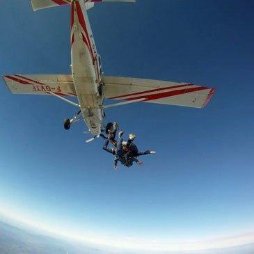 Saut en parachute, département Aube