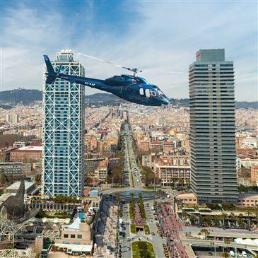 Baptême de l'air hélicoptère, département Catalogne