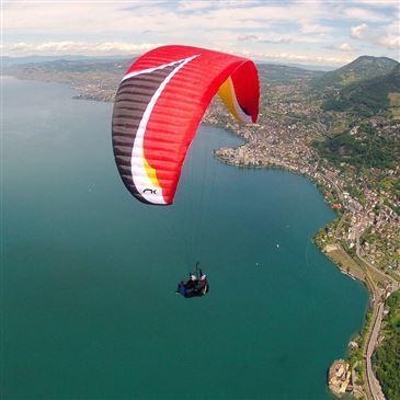 Baptême en Parapente à Montreux - Survol du Lac Léman