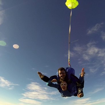 Saut en parachute, département Alpes Maritimes