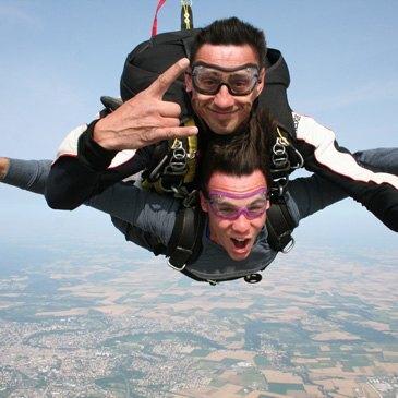 Saut en parachute, département Vienne