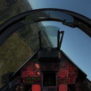 Simulateur de Vol Avion de Chasse Mirage 2000 près de Lille