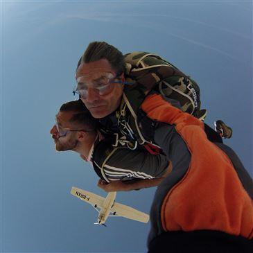 Saut en parachute, département Loiret