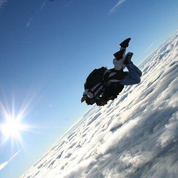 Saut en parachute, département Gard