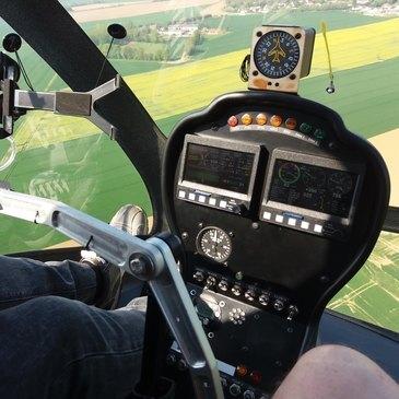 Baptême de l'air hélicoptère en région Picardie