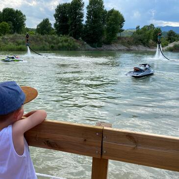 Flyboard proche Saint-Maurice-l'Exil