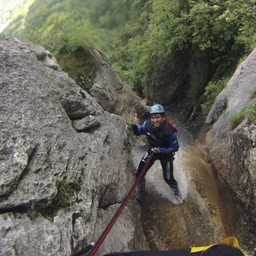 Canyoning proche Lathuile, au bord du lac d'Annecy
