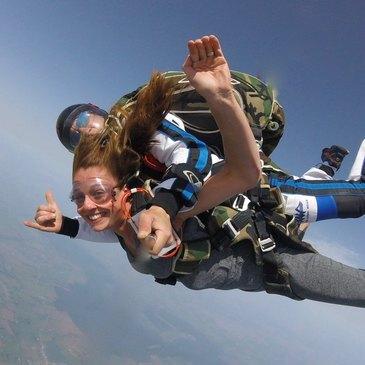 Saut en parachute, département Pas de calais