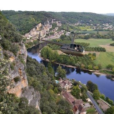 Baptême de l'air hélicoptère, département Dordogne