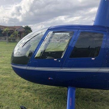 Aérodrome de Sarlat - Domme, Dordogne (24) - Baptême de l'air hélicoptère