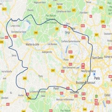 Balade à Moto à l'Ouest de Paris en région Ile-de-France