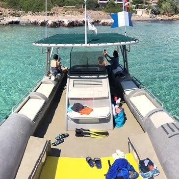 Balade en bateau, département Corse du Sud