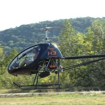 Baptême de l'air hélicoptère, département Ain