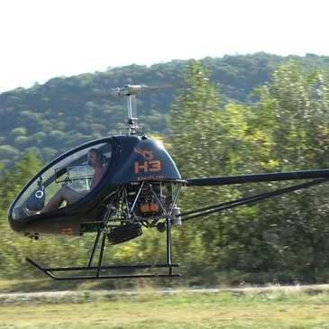 Baptême en Hélicoptère ULM près d'Aix-les-Bains en région Rhône-Alpes