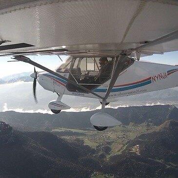 Pilotage d'ULM Multiaxe près de Valence