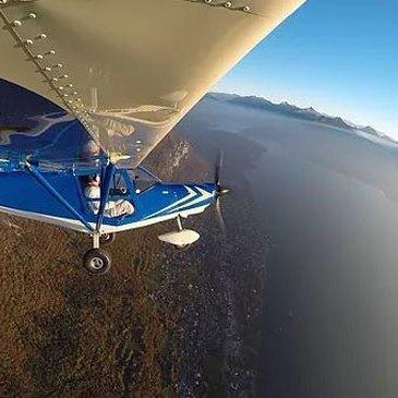 Pilotage d'ULM Multiaxe - Survol du Lac d'Annecy