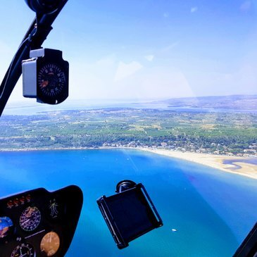 Baptême de l'air hélicoptère, département Aude